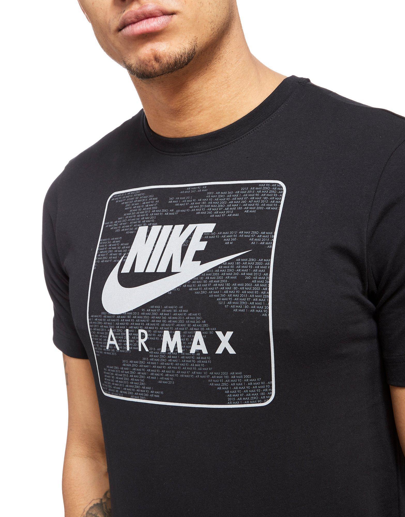 de18d085 Nike Air Max Graphic T-shirt in Black for Men - Lyst