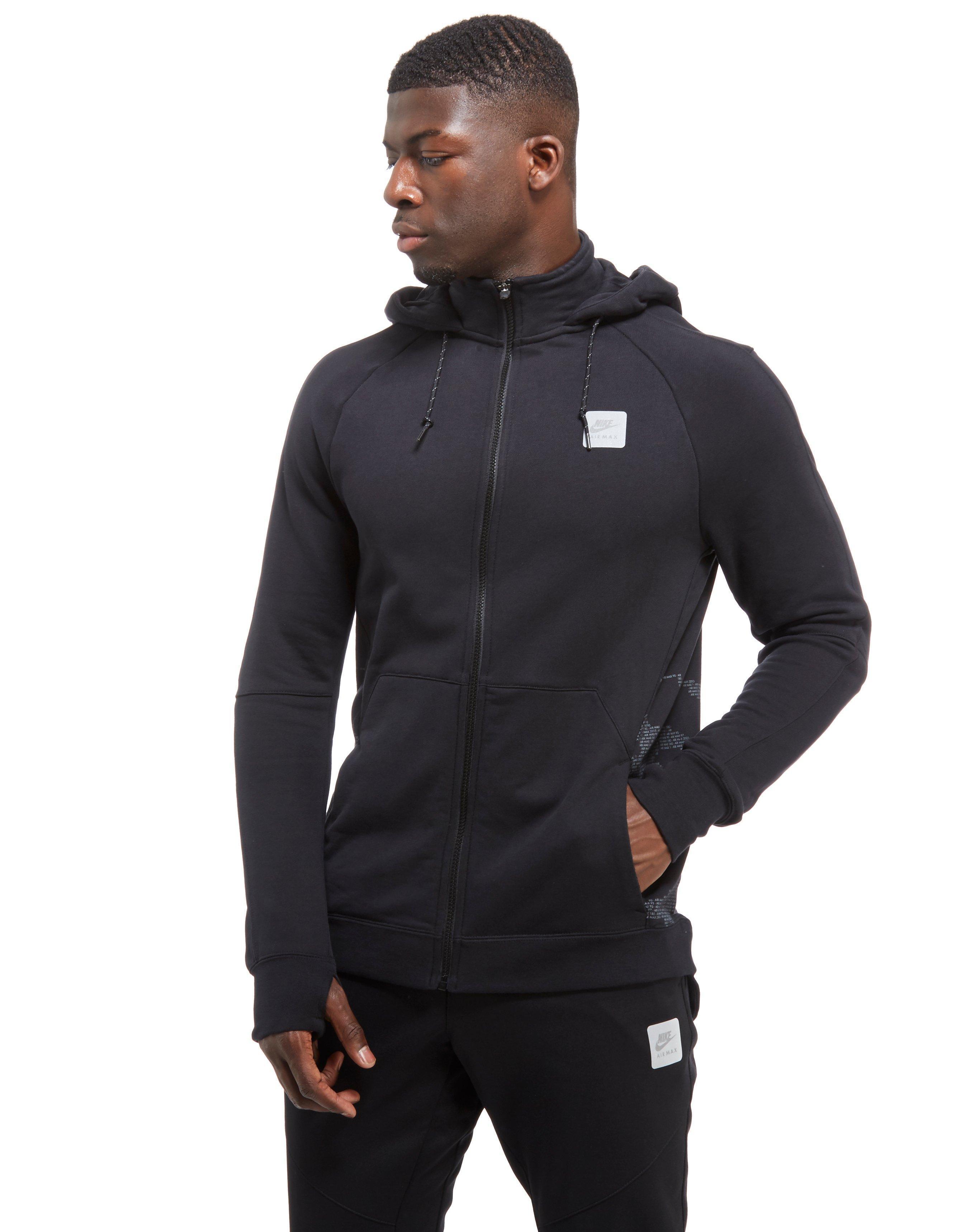 Men's Black Air Max Ft Full Zip Hoody
