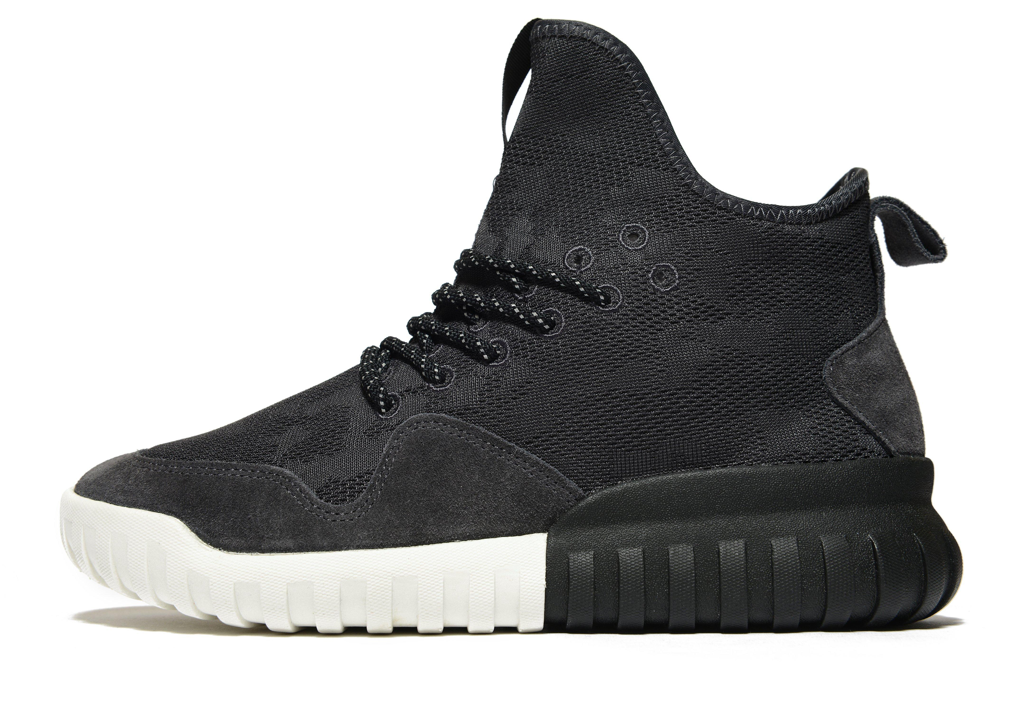 newest c558b e605a adidas Originals Suede Tubular X Uncaged in Black for Men - Lyst