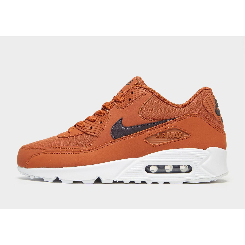Nike Leather Air Max 90 Essential in Orange/Burgundy (Orange) for ...