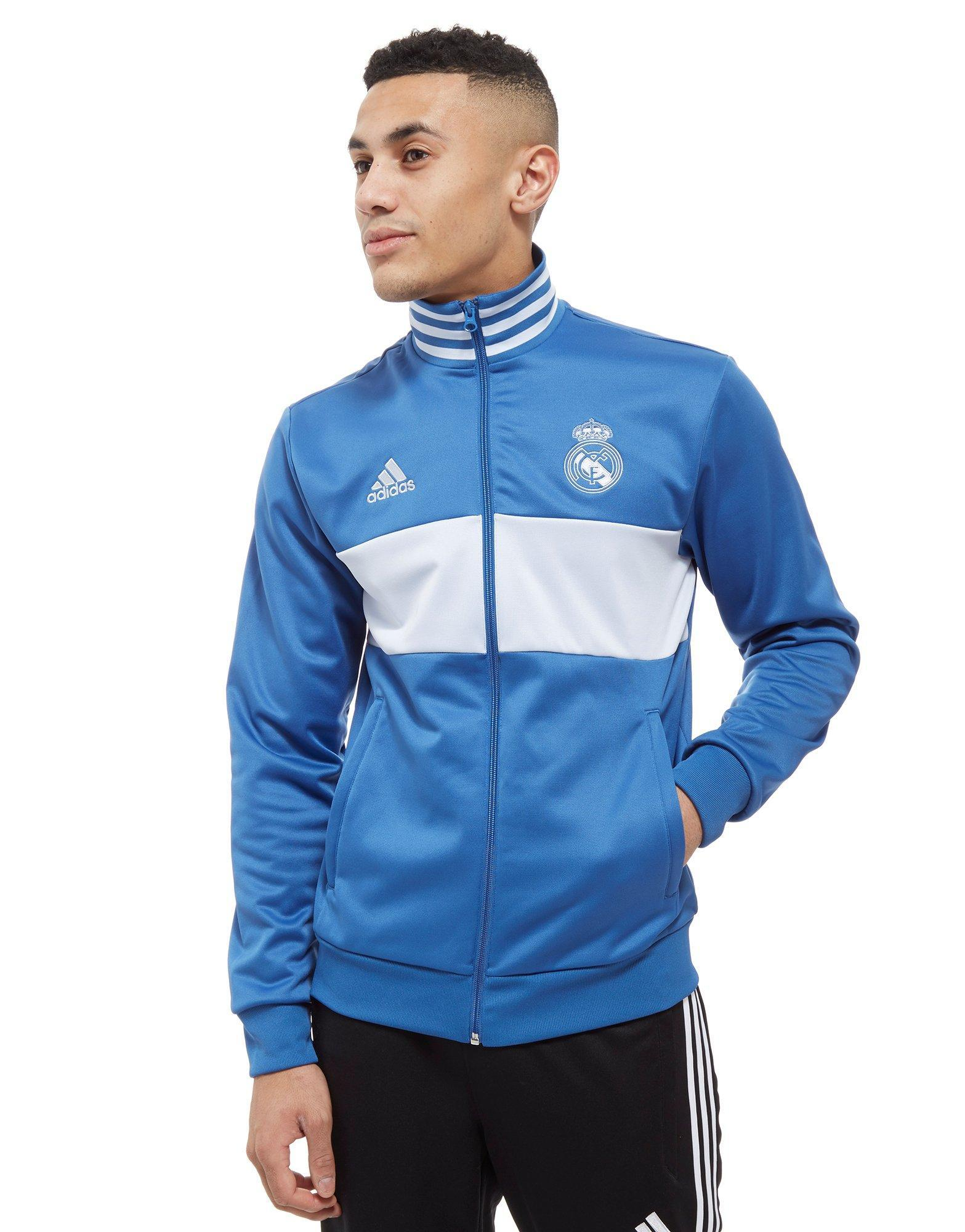 71cbd6041 adidas Real Madrid 3-stripes Track Top in Blue for Men - Lyst