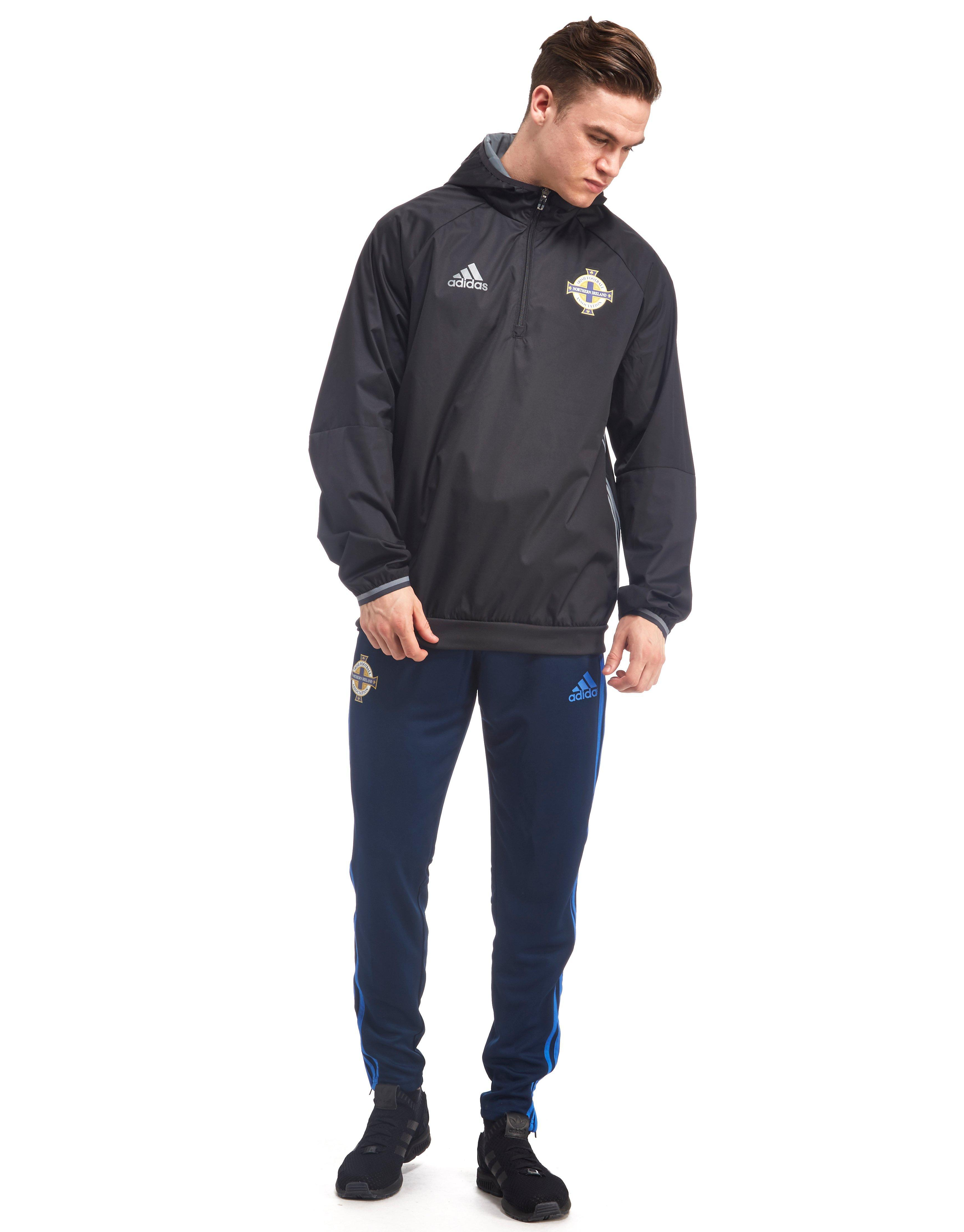 adidas Synthetic Northern Ireland 2016/17 Windbreaker Jacket in Black for Men