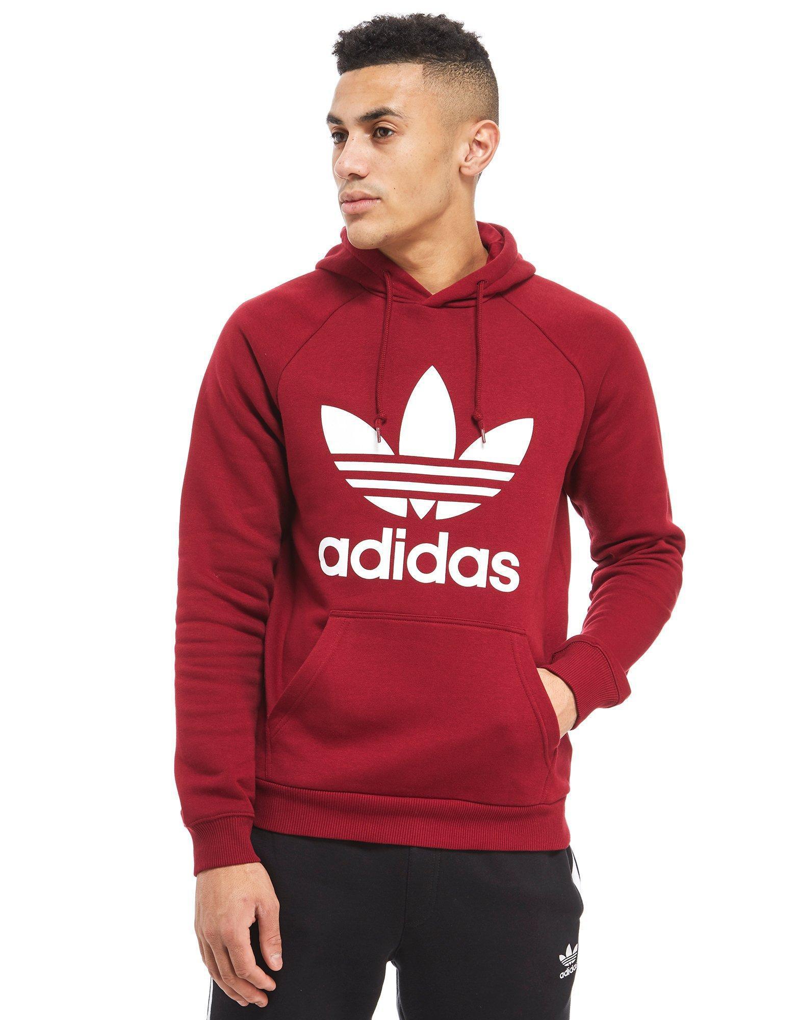 Adidas trefoil hoodie mens