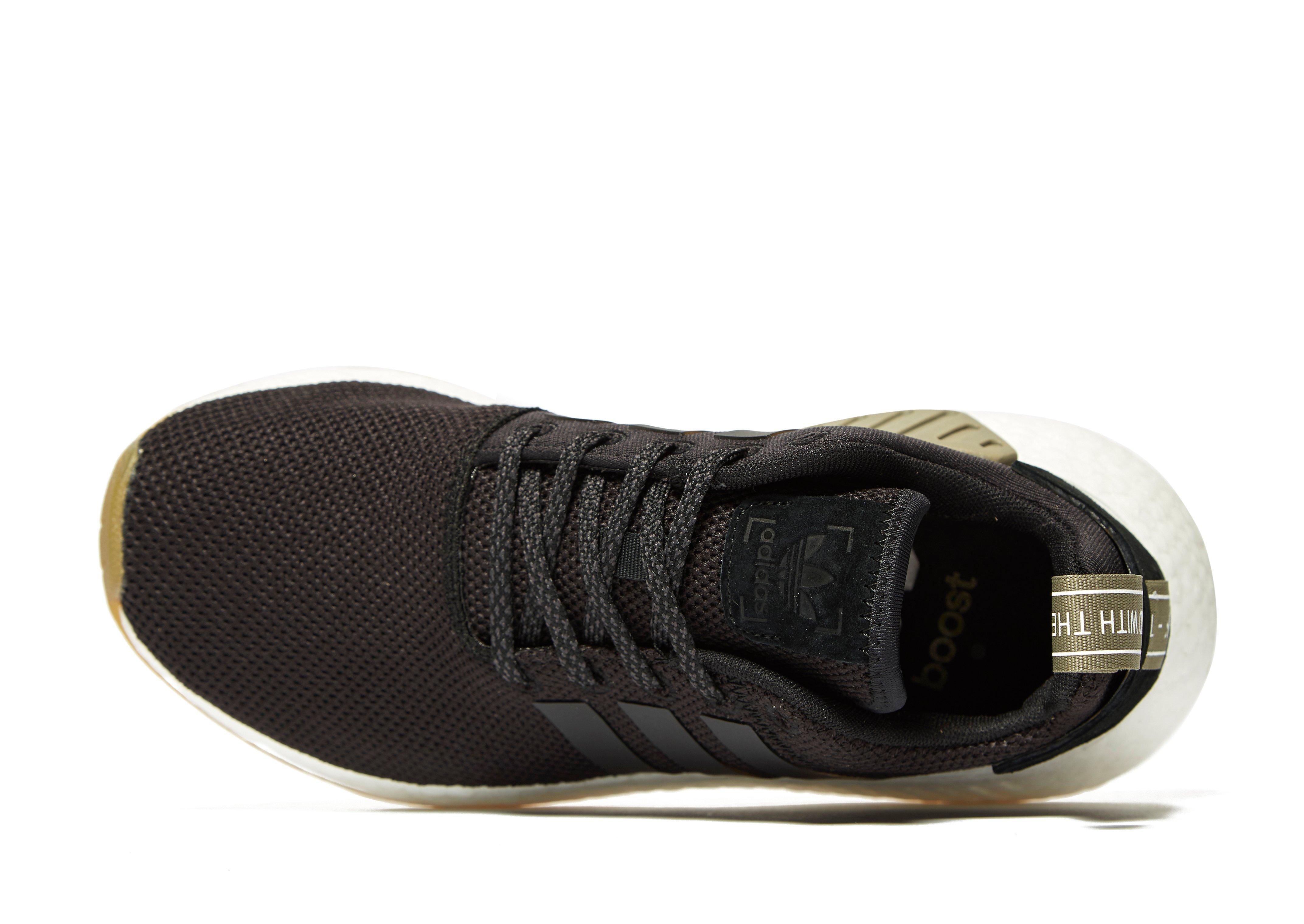 adidas Originals Leather Nmd R2 Junior in Black for Men Lyst