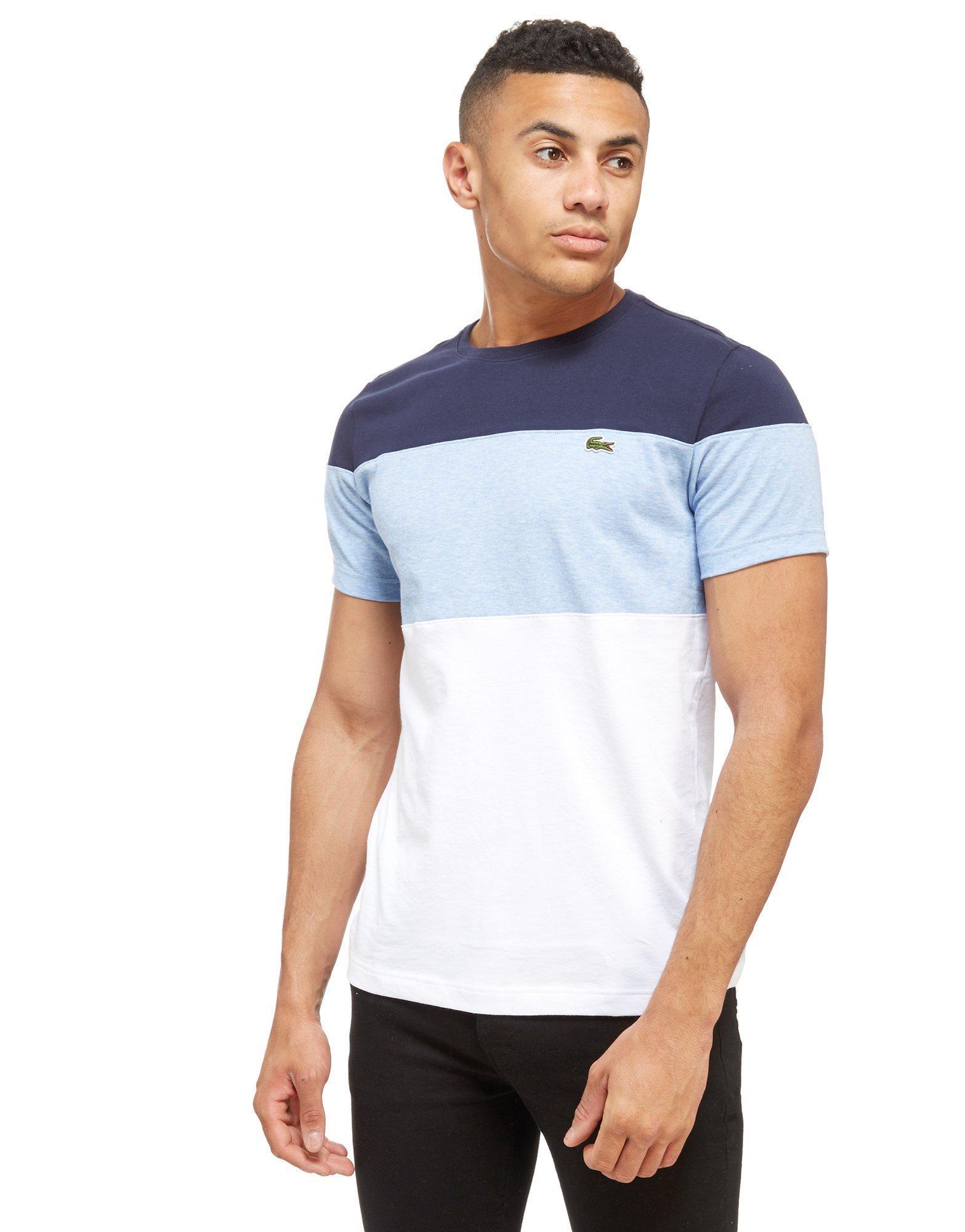 acdd88ec Lacoste Blue Colour Block T-shirt for men