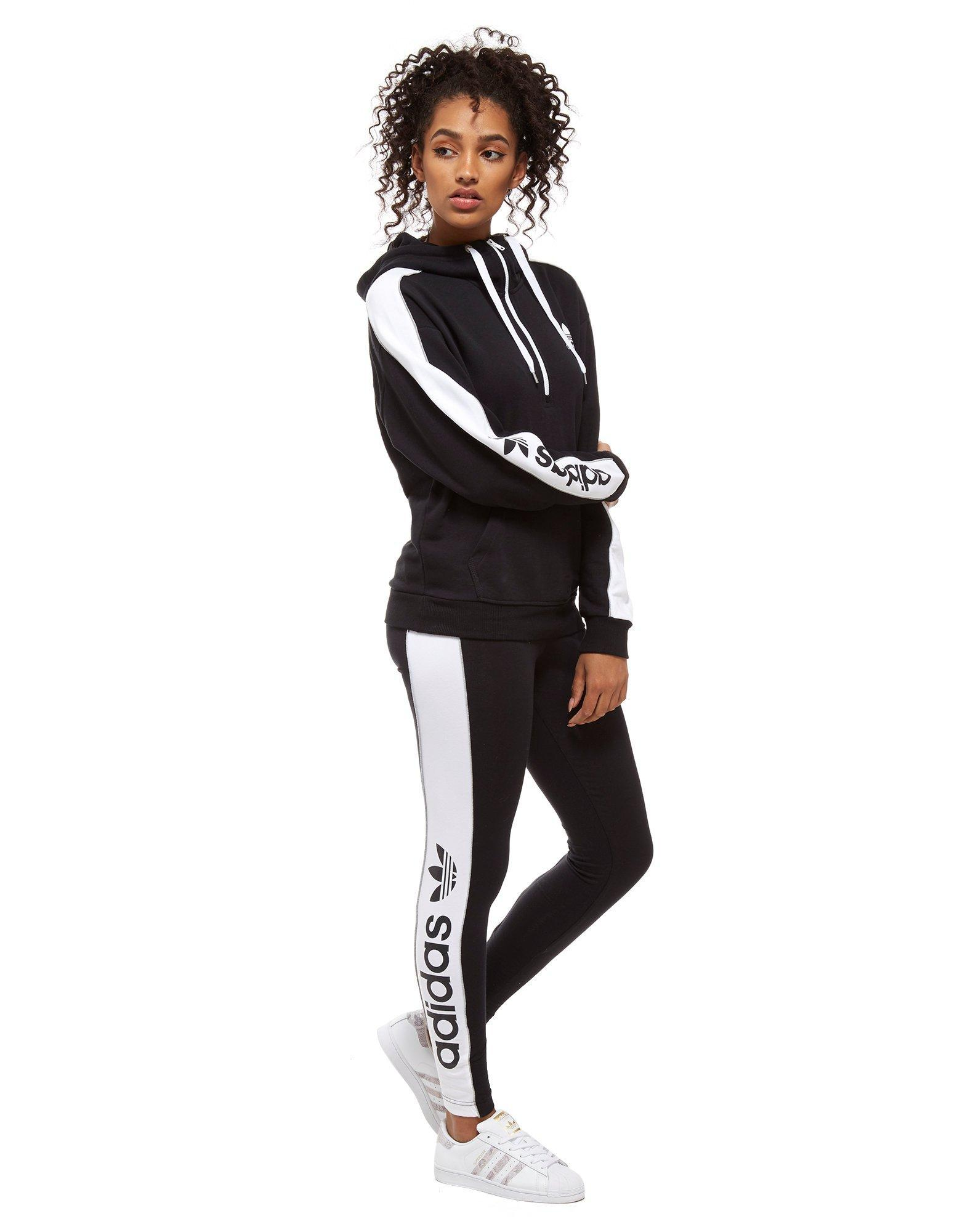 Adidas Originals Black Linear 12 Zip Hoodie