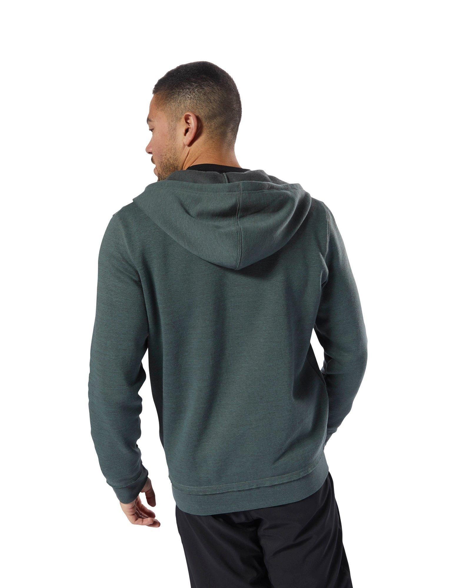 f0a673a588 Reebok Training Essentials Marble Full Zip Hoodie in Green for Men ...