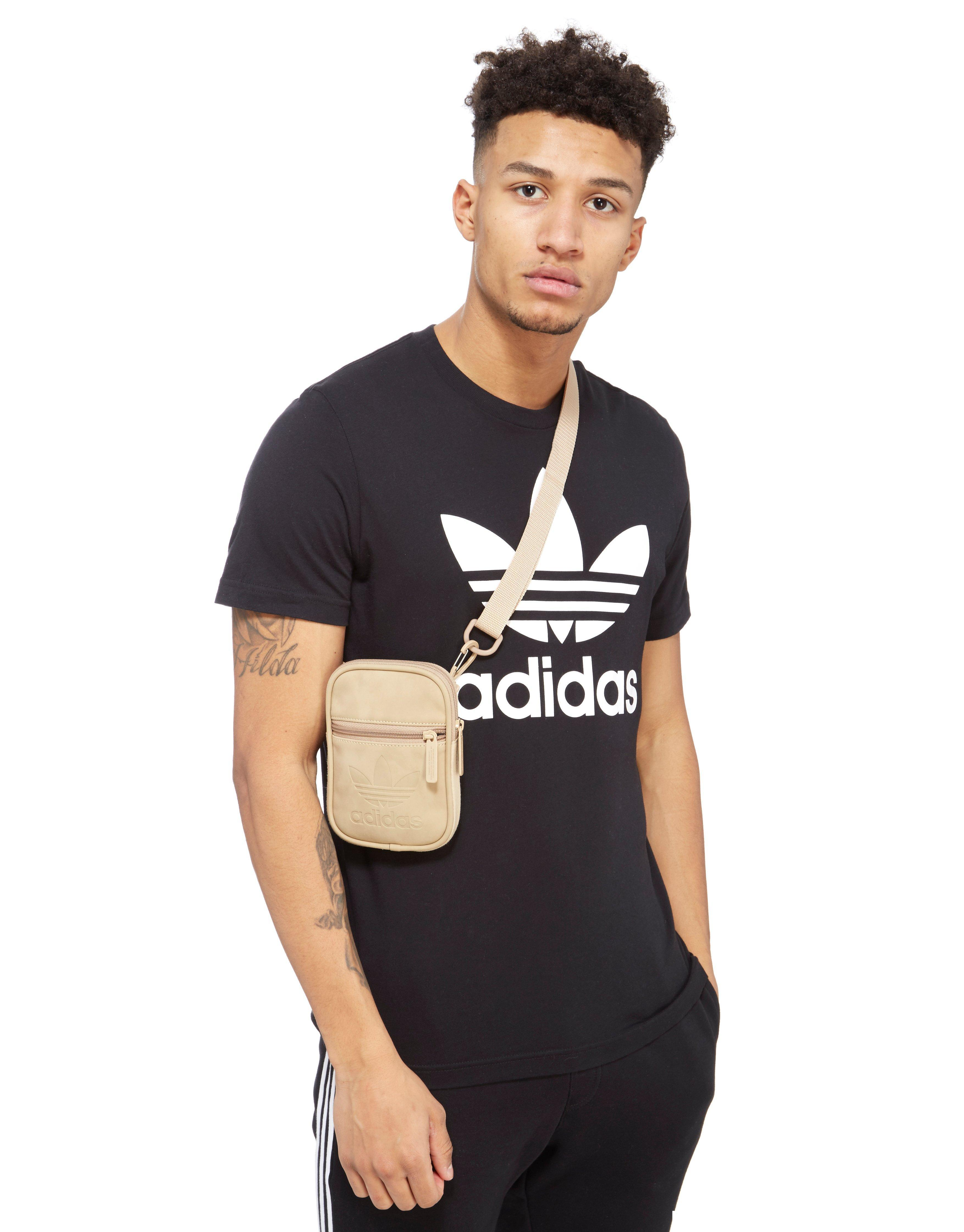 59ce89d1d3 adidas Originals Suede Hip Bag in Natural for Men - Lyst