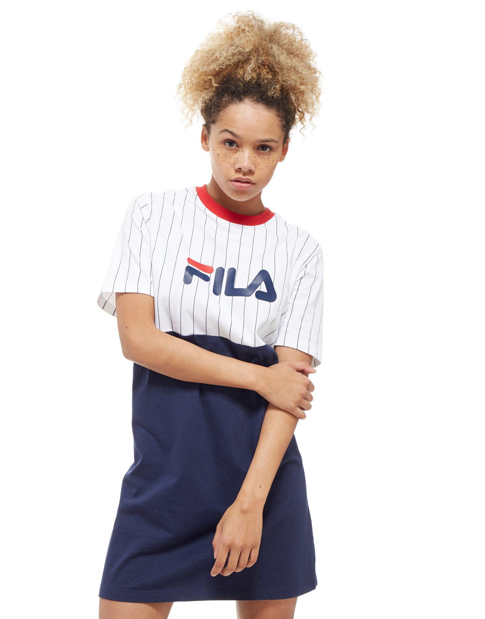 100% high quality really cheap cheap prices Fila Stripe T-shirt Dress in Blue - Lyst