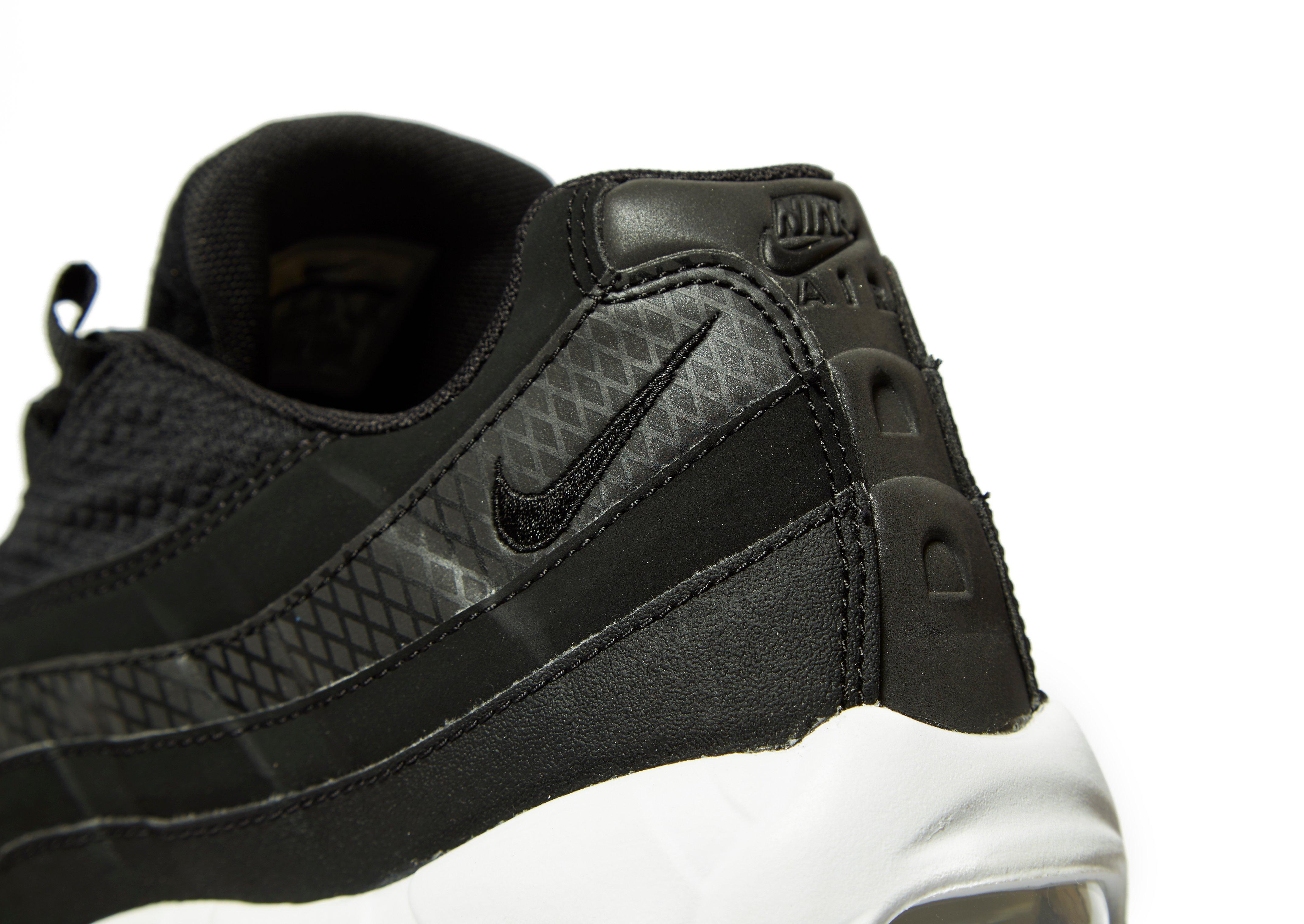 Nike Leather Air Max 95 Se in Black/White (Black) for Men