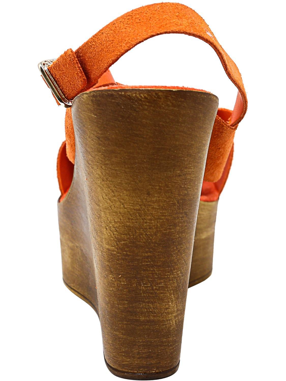 736d7aa639b Lyst - Steve Madden Bali Suede Wedged Sandal - 9m in Orange