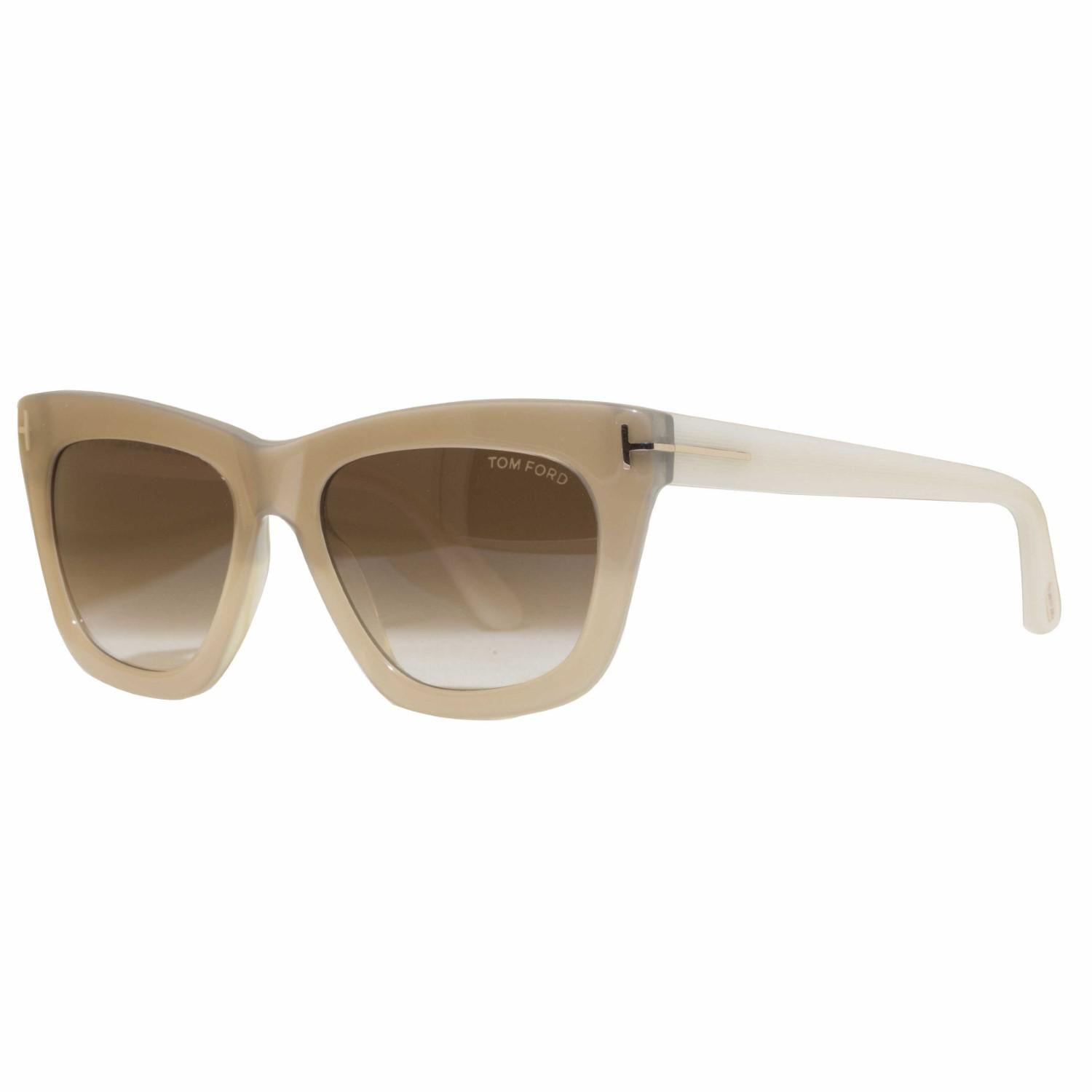 e4d37ef1f6e Lyst - Tom Ford Celina Tf361 34f Pearl ivory Brown Gradient Square ...