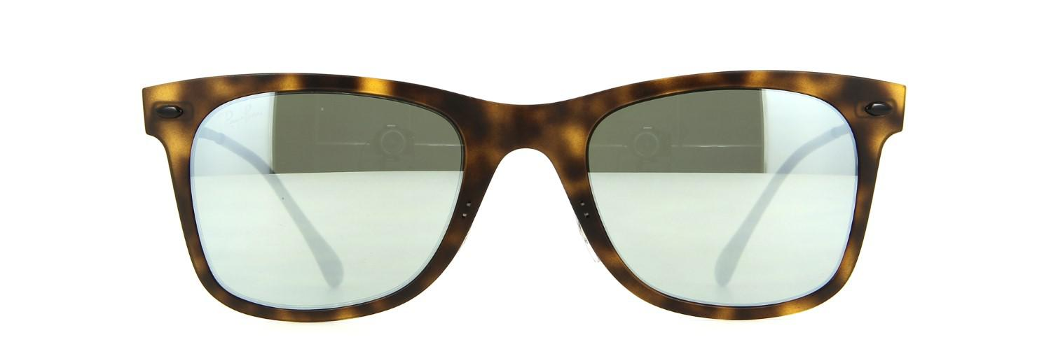 Lyst - Ray-Ban 0rb4210 624430 50 Matte Havana grey Flash Tech ... 586fa30782d7