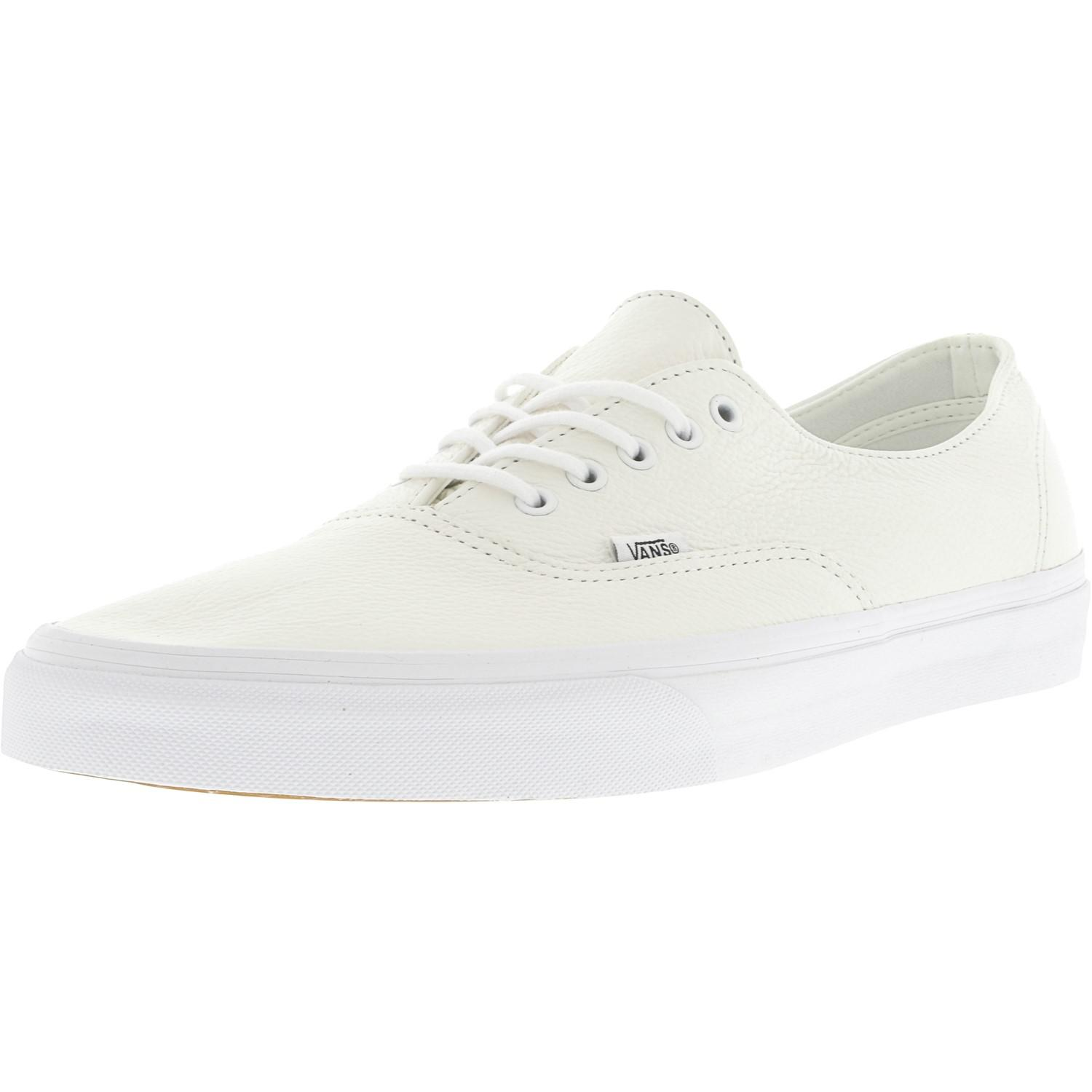 908c7c4db32b2d Lyst - Vans Authentic Decon Premium Leather True White Ankle-high ...