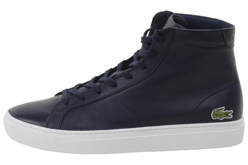 39f8f2ebba Lacoste - Blue L.12.12 Mid 316 1 Fashion Navy High Top Sneakers Shoes for.  View fullscreen