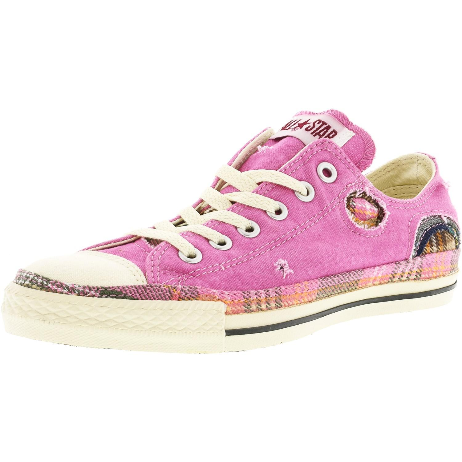 3529b3678a22 Lyst - Converse Chuck Taylor Patchwork Ox Pink   Parchment Ankle ...