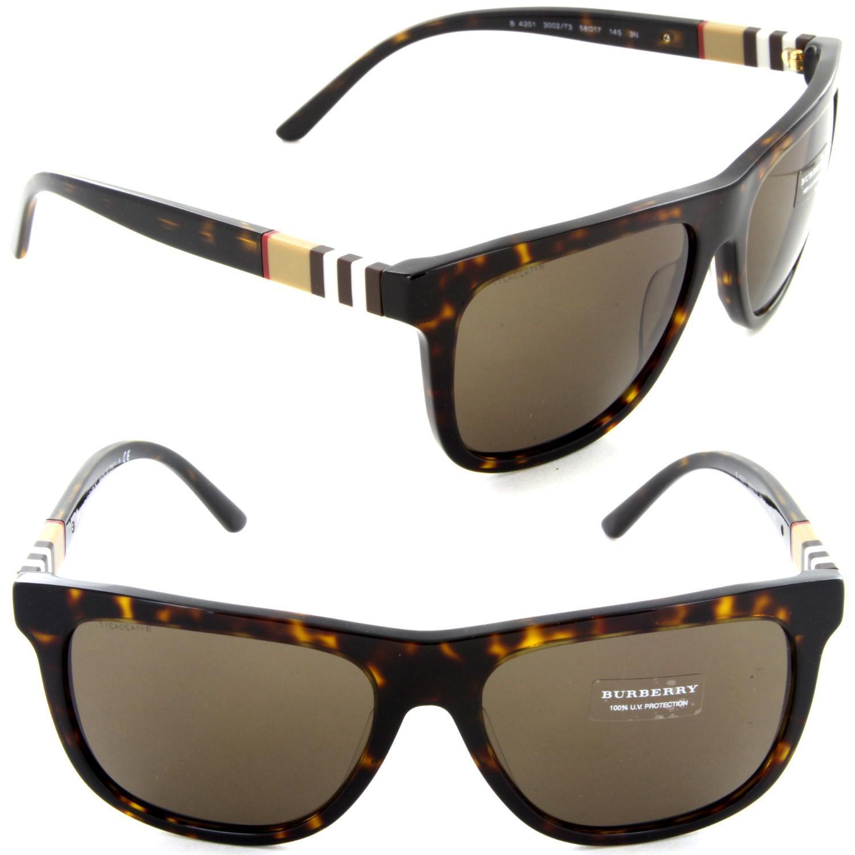 f520b0f9ac3 Lyst - Burberry Be 4201 3002 73 Square Sunglasses Dark Havana  brown ...