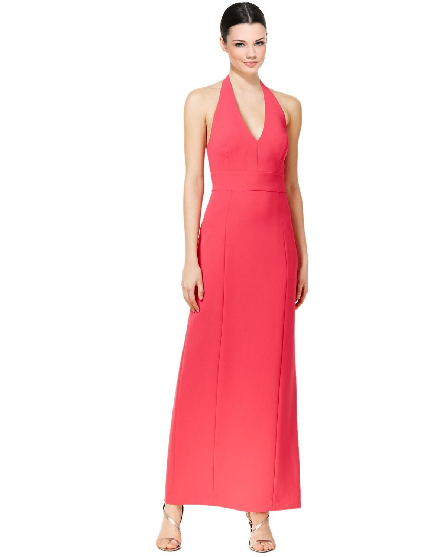 Lyst - Calvin Klein 205W39Nyc Open Back Halter Neck Evening Gown Dress