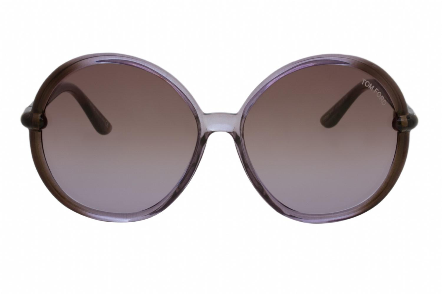 889e0f70c28fe Tom Ford Ft0167 Caithlyn Sunglasses Lilac Shaded   Dark Brown in ...