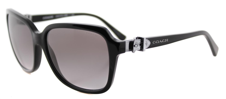 2d46cb75b9b1f Lyst - COACH Hc 8179 500211 Womens Black Plastic Sunglasses in Black