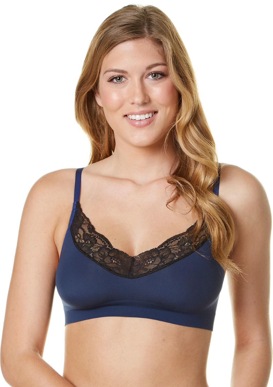 f91575a262 Lyst - Maidenform Seamless Lace T-back Bra Dm7968 in Blue