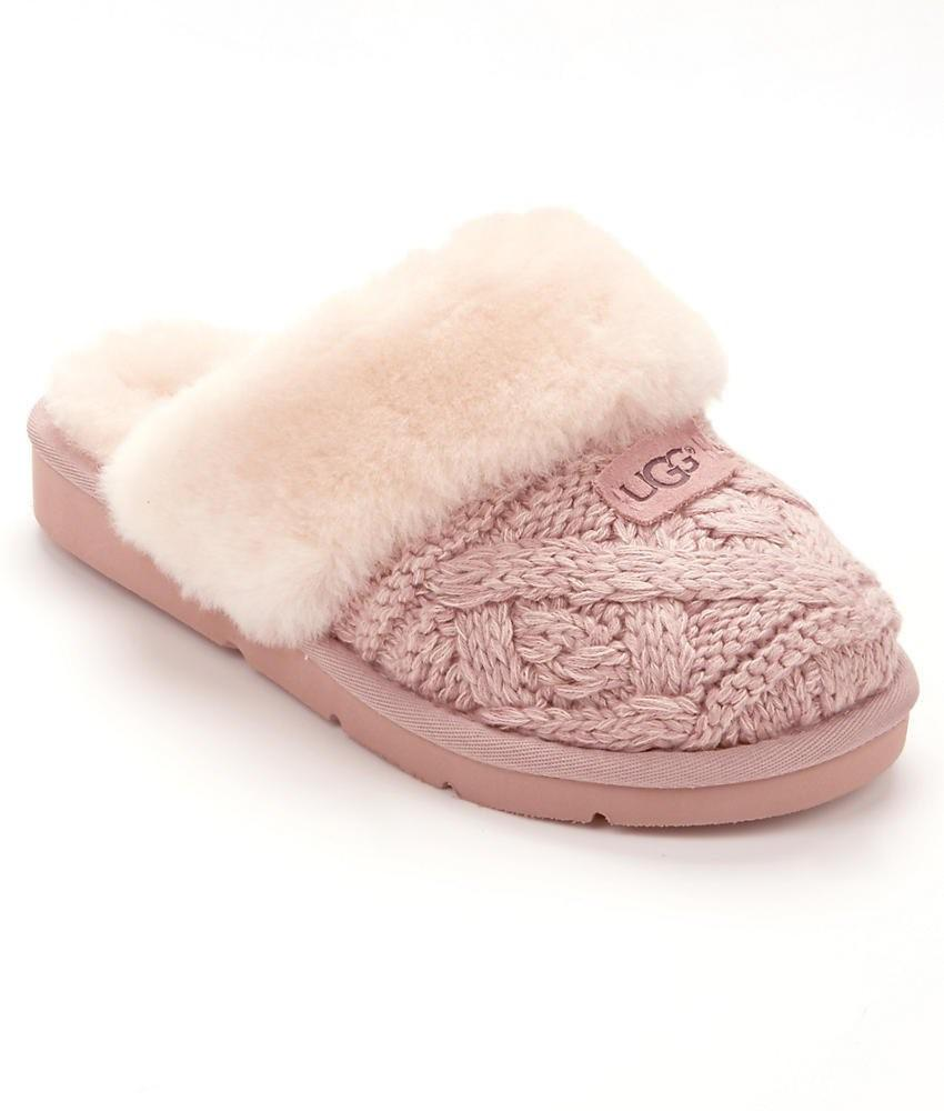 Lyst Ugg Cozy Cable Knit Slippers In Pink