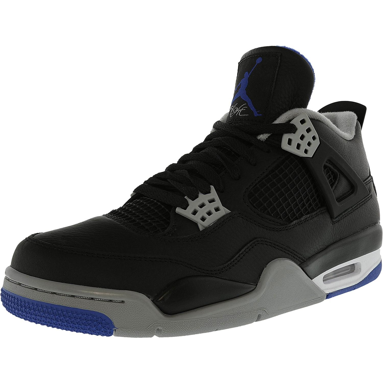 best website ede3e 6303b Lyst - Nike Air Jordan 4 Retro Black   Game Royal-matte Silver Ankle ...
