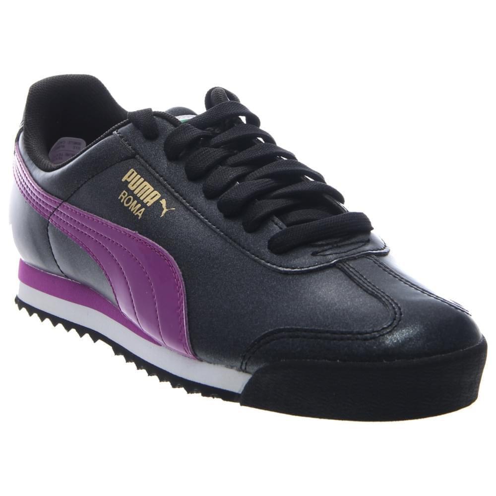 d660a04551b43e Lyst - PUMA 360403-02  Roma Kids Basic Glitter Black Purple Grade ...