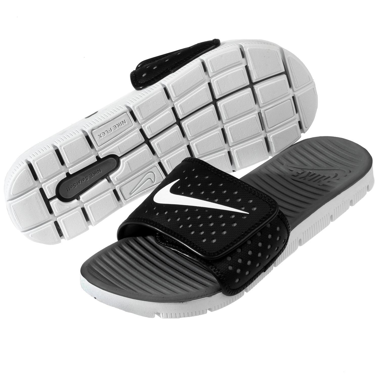 005d549e427d Lyst - Nike Flex Motion Slide Black white cool Grey Sandal 8 Men Us ...