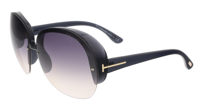80890b664110 Lyst - Tom Ford Ft0458 20b Marine Black Round Sunglasses in Black