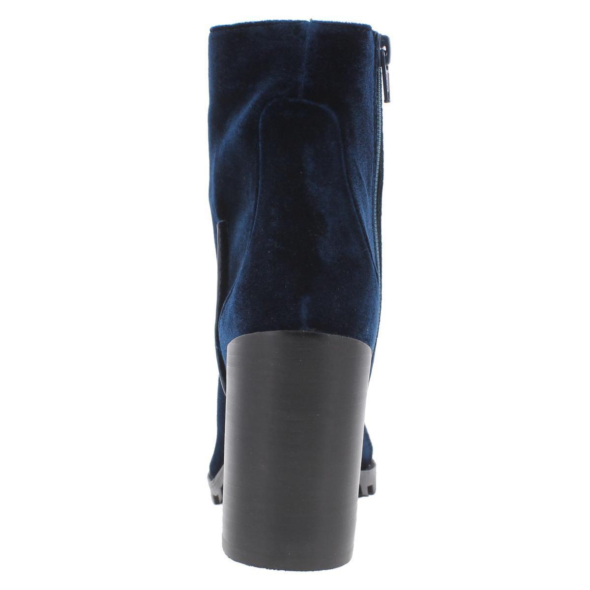 b7c8aa2c49c Lyst - Steve Madden Ambrose Velvet Lug Sole Casual Boots in Blue