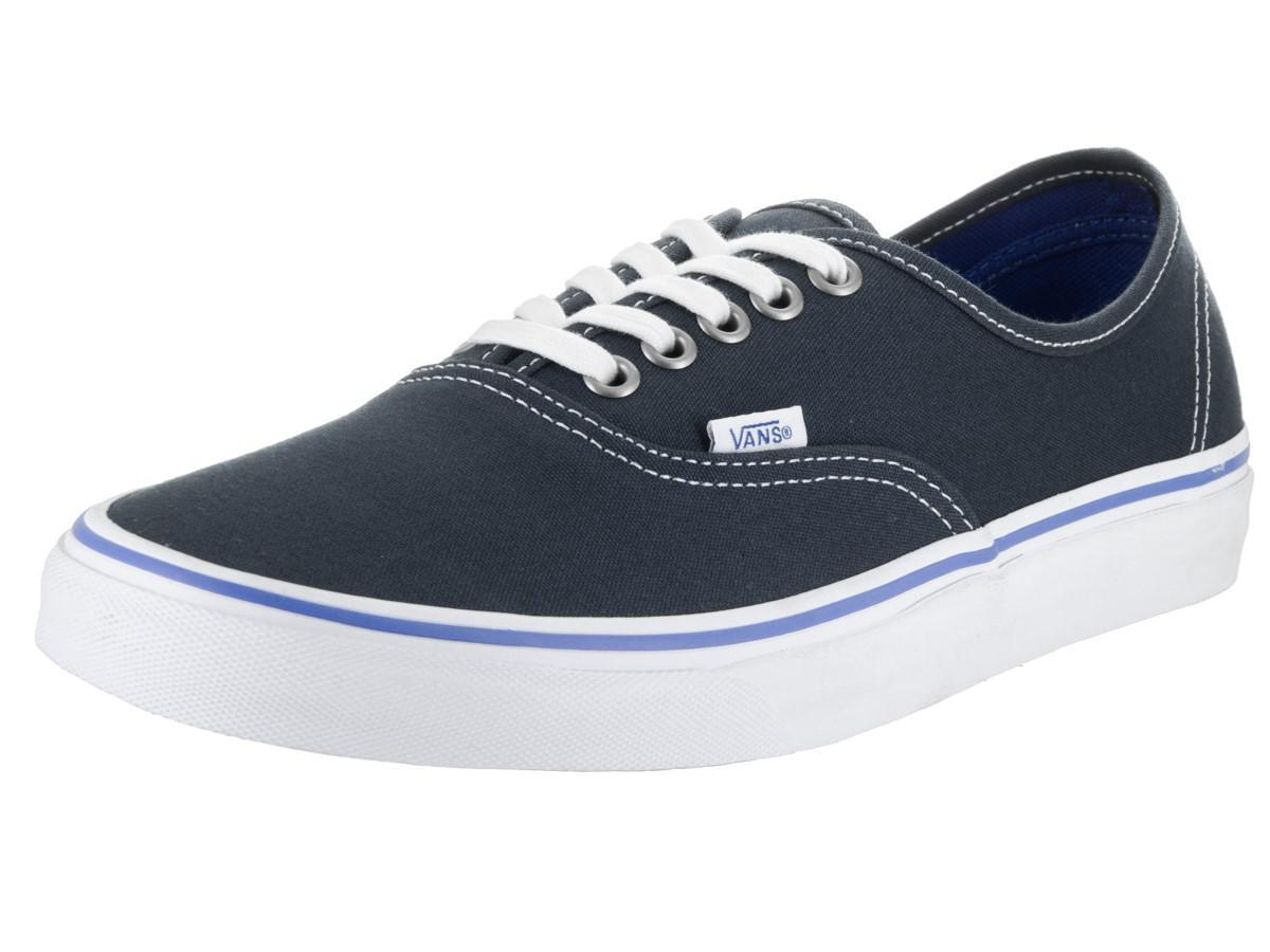 aeddf6d48c40 Lyst - Vans Unisex Authentic Midnight Navy true White Skate Shoe 7 ...