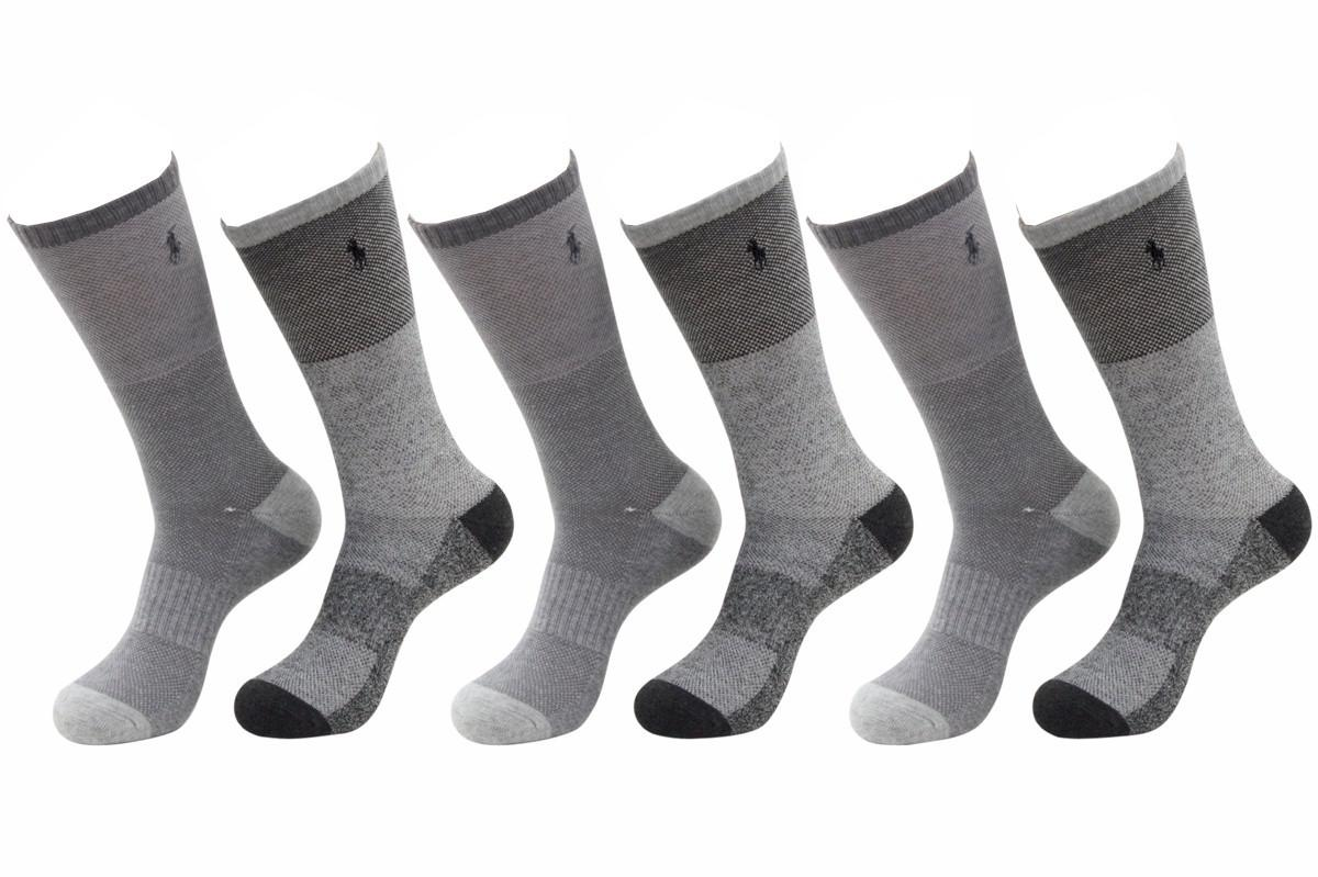 Polo Ralph Lauren Men's Quarter Cut Socks, Size 10 13, Black, Pack of 6