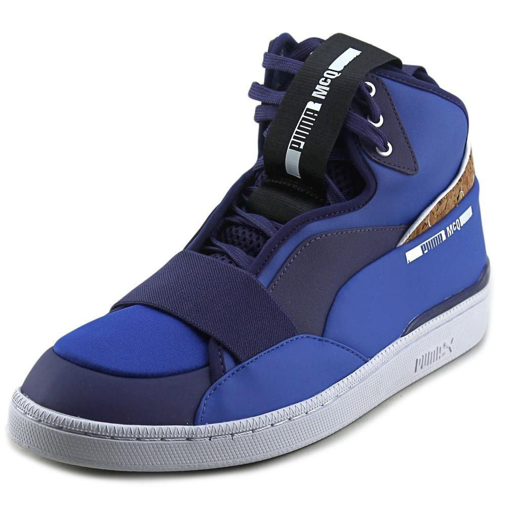2684a59f10dda1 PUMA. Alexander Mcqueen By Mcq Brace Mid Men Round Toe Synthetic Blue  Sneakers