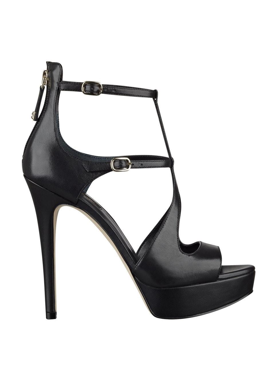 d4a93e192a2c2 Lyst - Guess Kymora Platform Heels in Black
