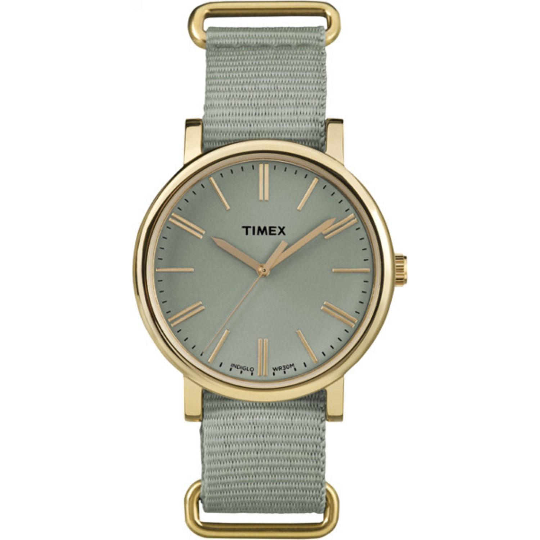 Lyst Timex Originals Tonal Green Strap Minimal Dial Casual Watch Fossil Idealist Silver Es4194 Gallery