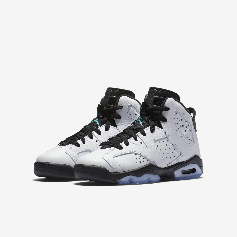 5a115a9a9ec84 Lyst - Nike Boys Air Jordan 6 Retro Bg White white-hyper Jade 384665 ...