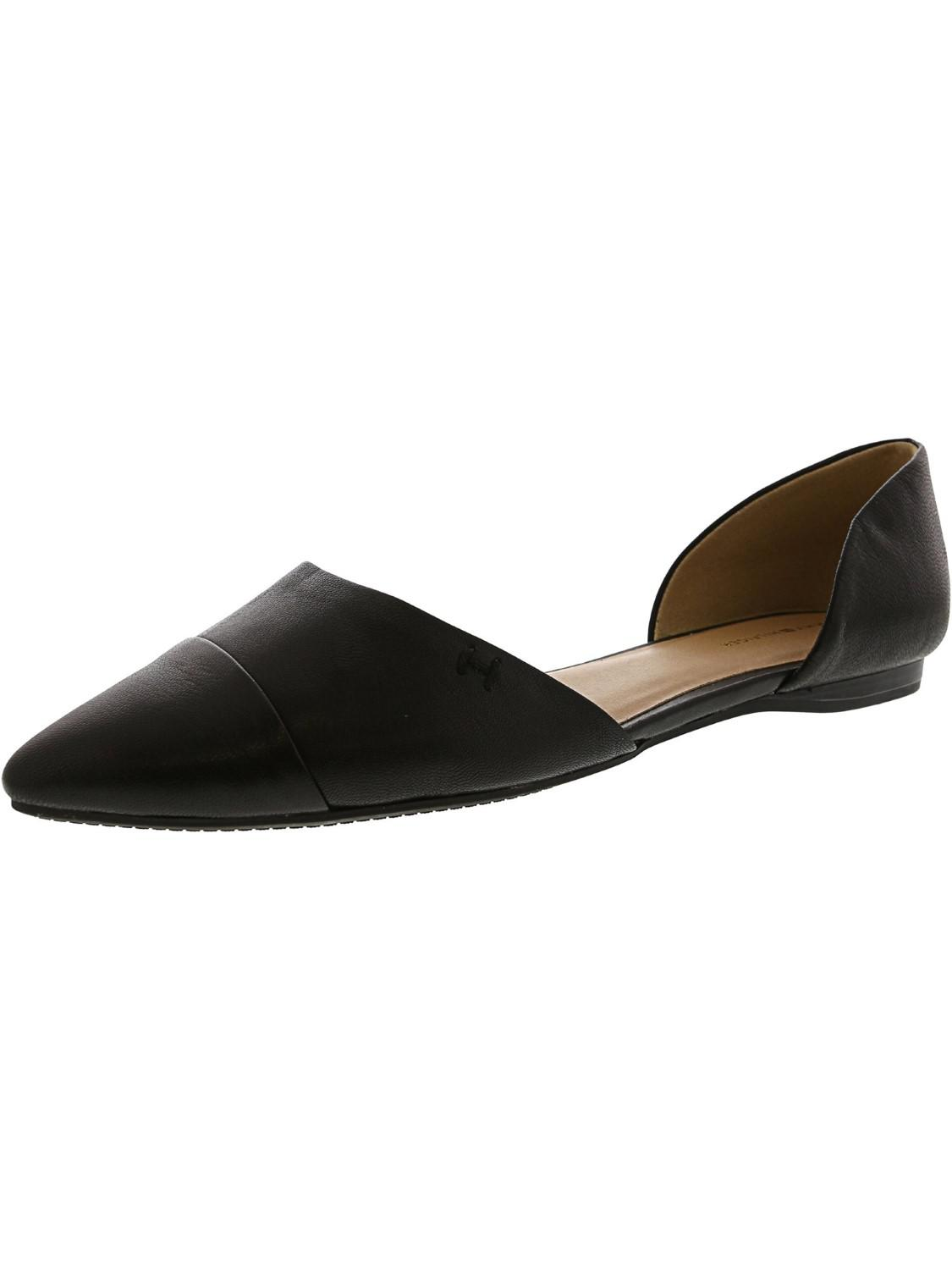 0e072ba2e Lyst - Tommy Hilfiger Naree3 Leather Flat Shoe - 7.5m in Black