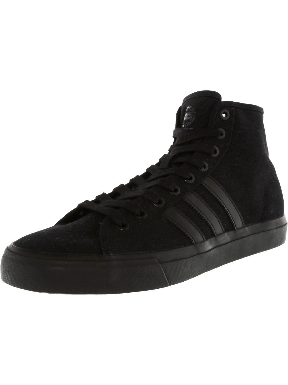 lyst adidas matchcourt hohe rx schwarz / knöchel hohen stoff mode