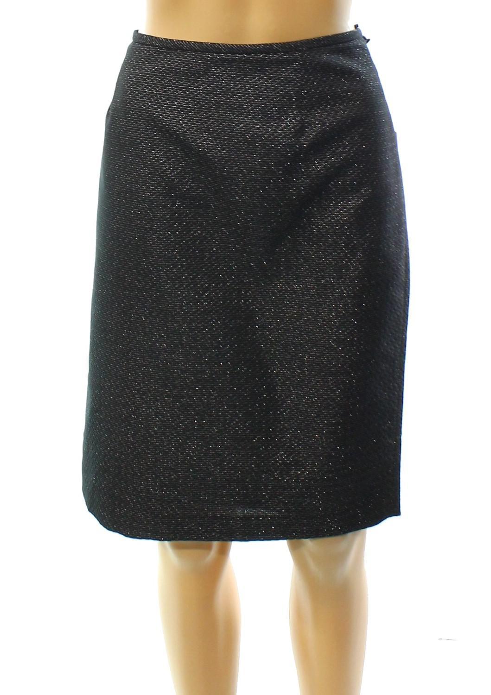 731e7b6b19 Lyst - Calvin Klein Petite Metallic Jacquard Pencil Skirt in Metallic