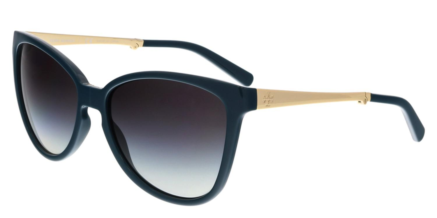bca90942eac6 Lyst - Tory Burch Ty9019 114811 Teal Folding Cateye Sunglasses in Blue
