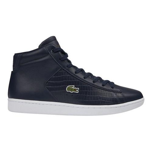 0c867b748988c8 Lyst - Lacoste Carnaby Evo Mid Leather High Top Sneaker in Blue