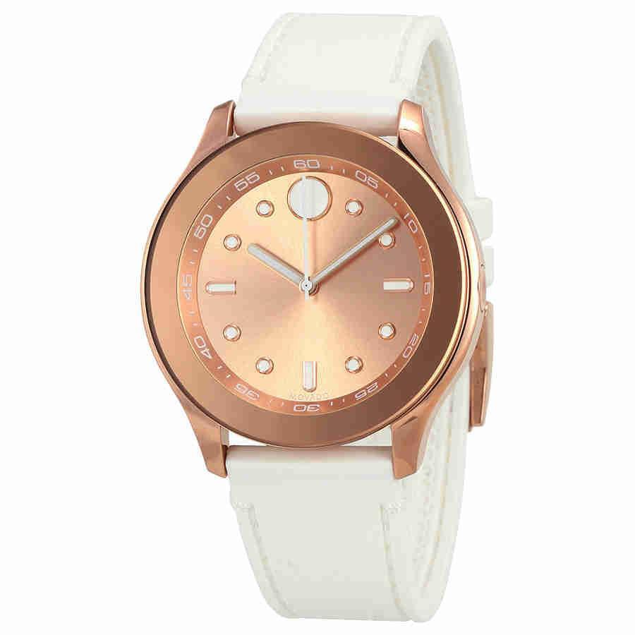 b96a7488b Lyst - Movado Bold Rose Dial Ladies Watch 3600411