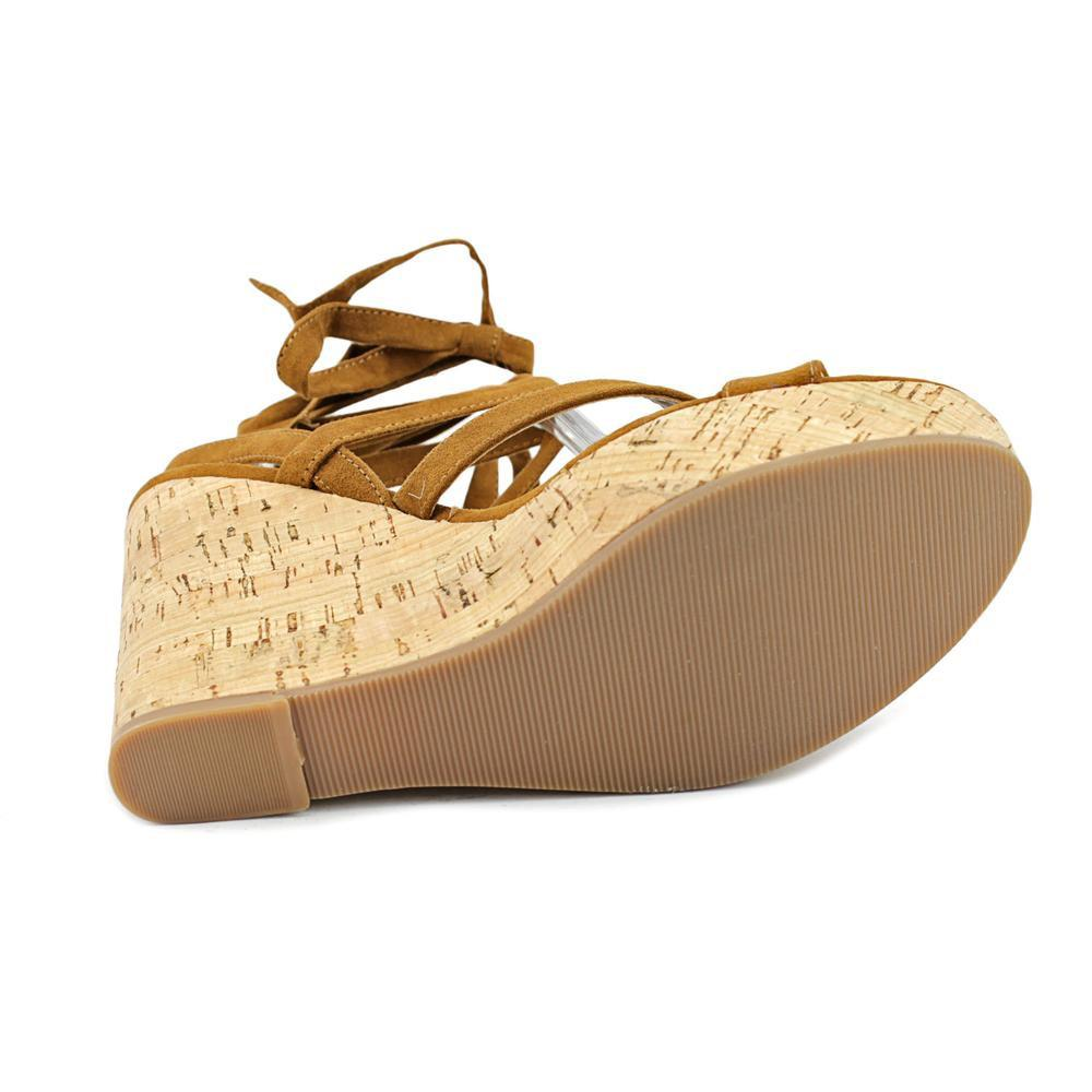 9df0e169eea0 Lyst - Guess Treacy Women Us 8 Brown Wedge Heel in Brown