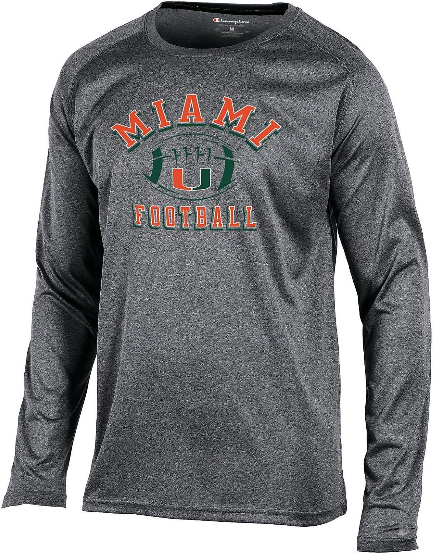 Lyst - Champion Miami Hurricanes Block Long Sleeve T-shirt in Gray ... 3b0112be2