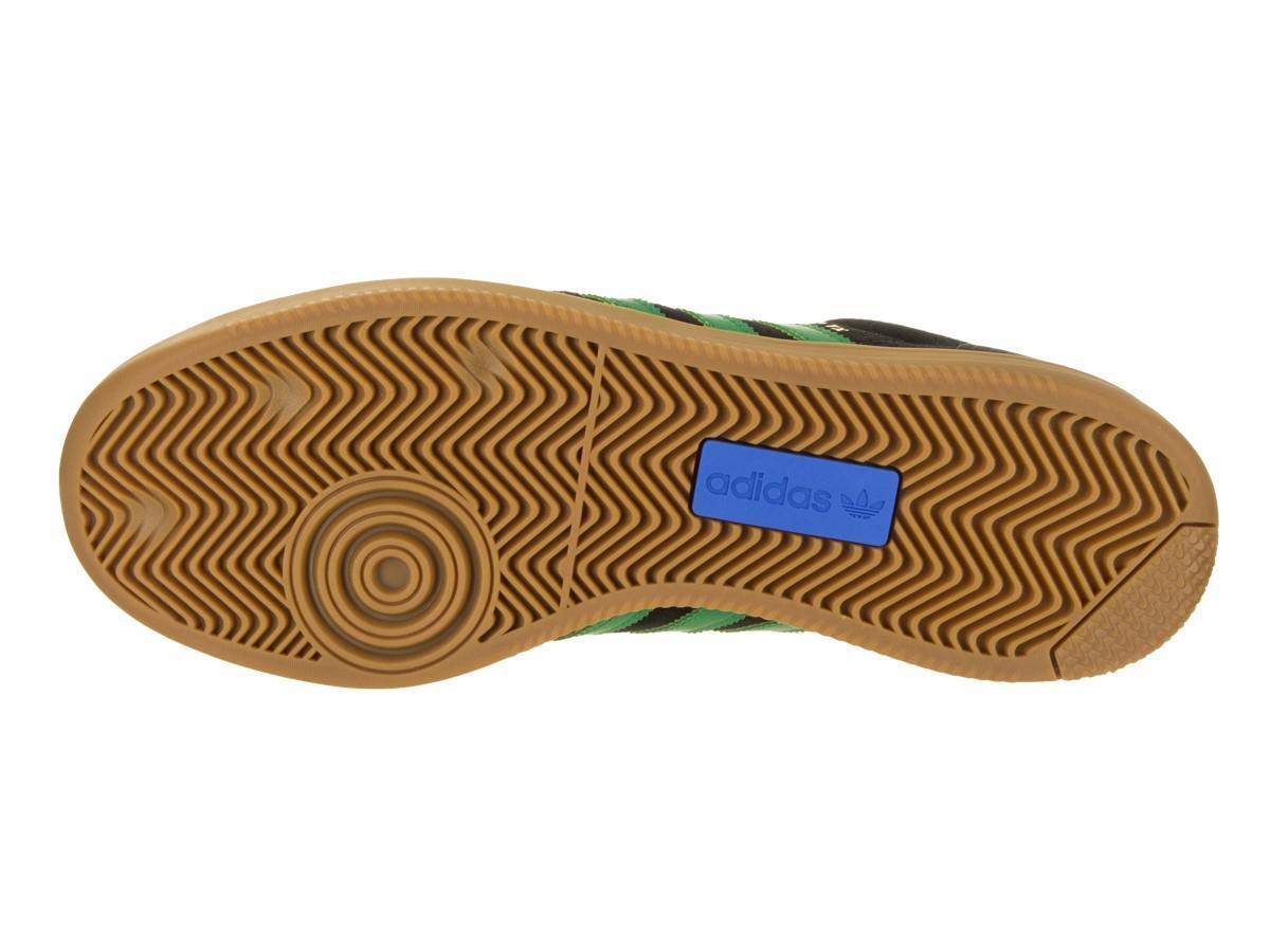 lyst adidas samba avanzata cblack / verde / gum4 pattinare scarpa uomini in