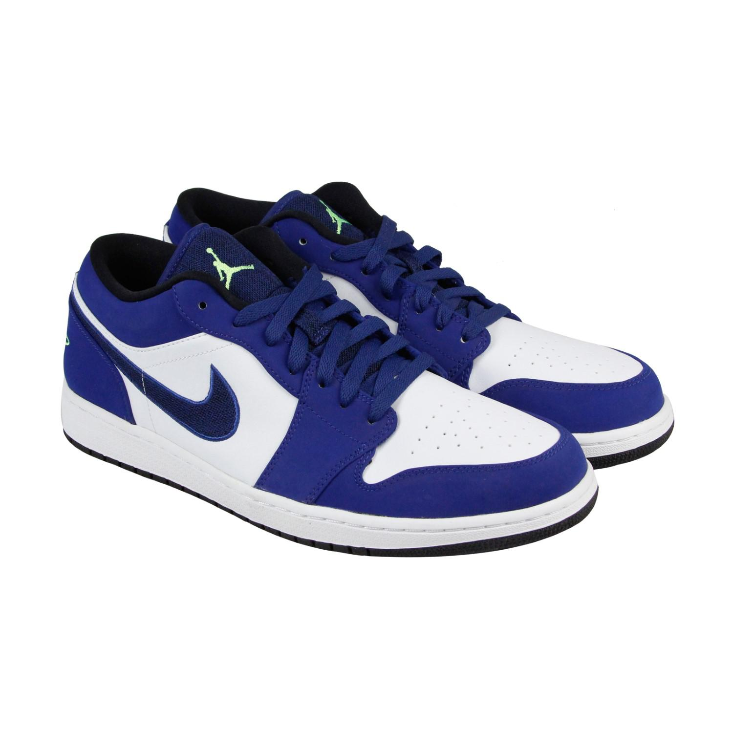9c93b5a9ba30 ... ireland lyst nike air jordan 1 low insignia blue ghost green wolf grey  3cef5 b34ab