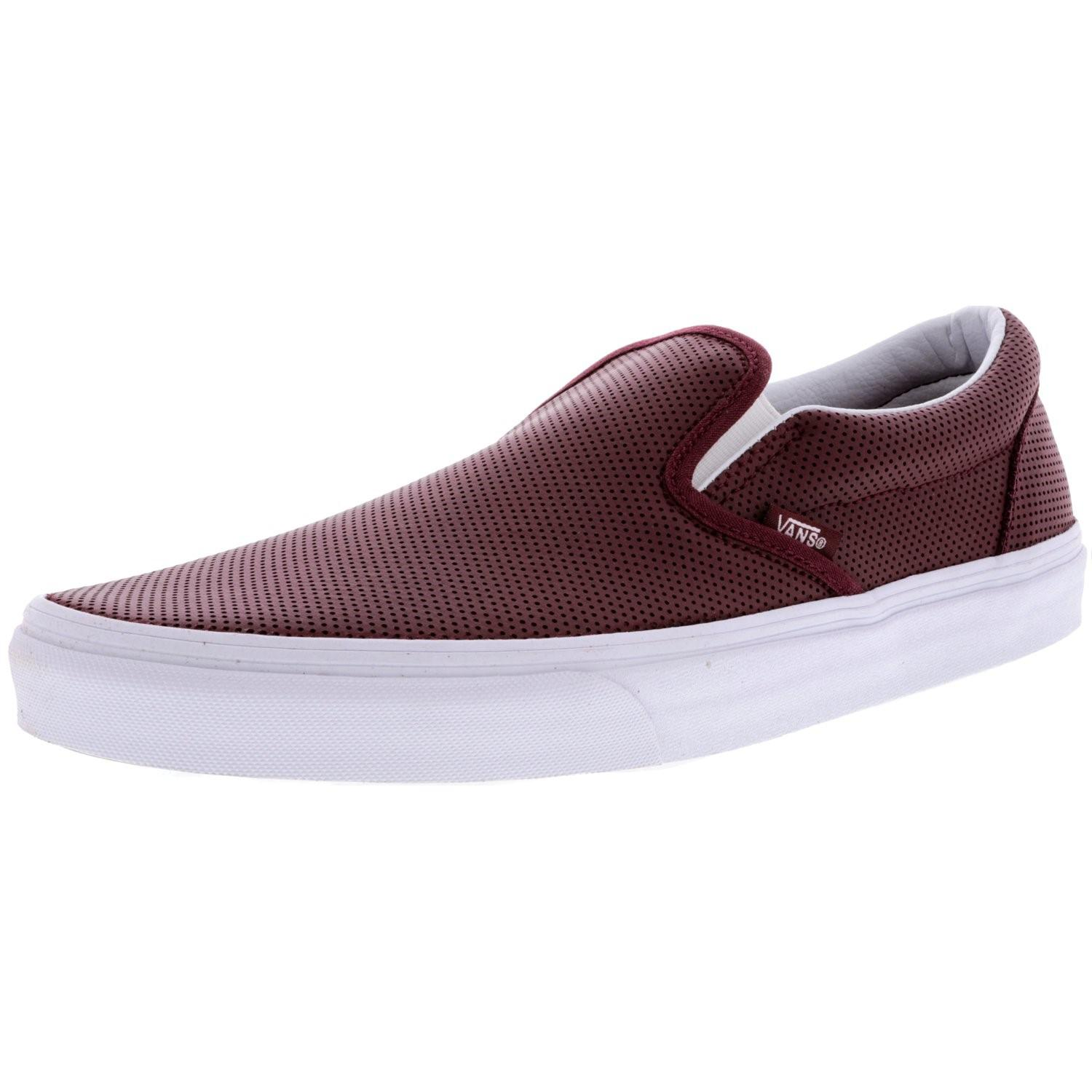 Lyst - Vans Classic Slip-on Perforated Leather Low Top Skateboarding ... b4b11ab63
