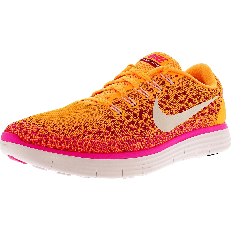 60fb9e4b2398c Lyst - Nike Free Rn Distance Atomic Orange white-fire Pink-pink ...