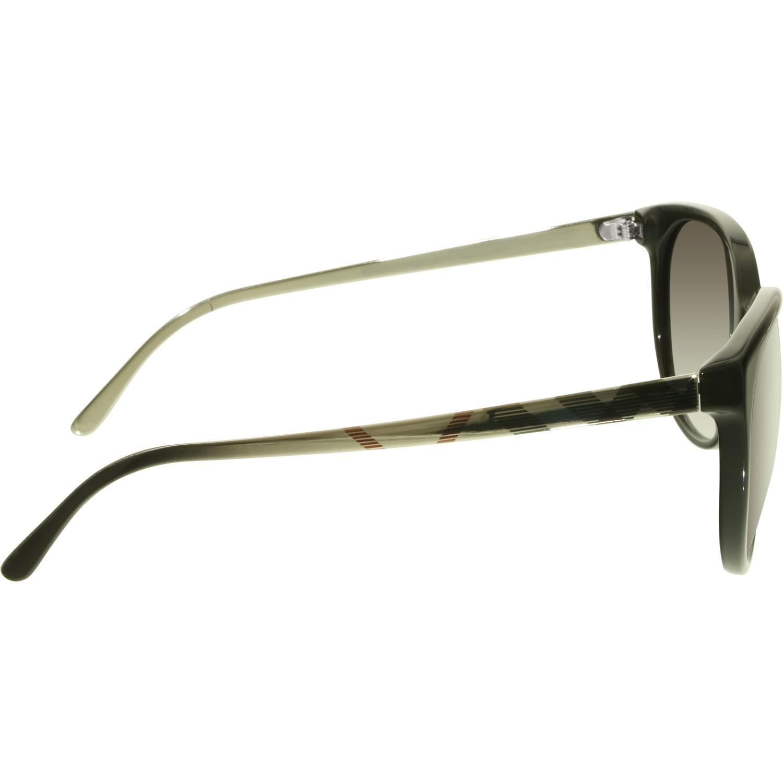 096c99453fc Lyst - Burberry Gradient Be4146-34068g-55 Black Round Sunglasses in ...
